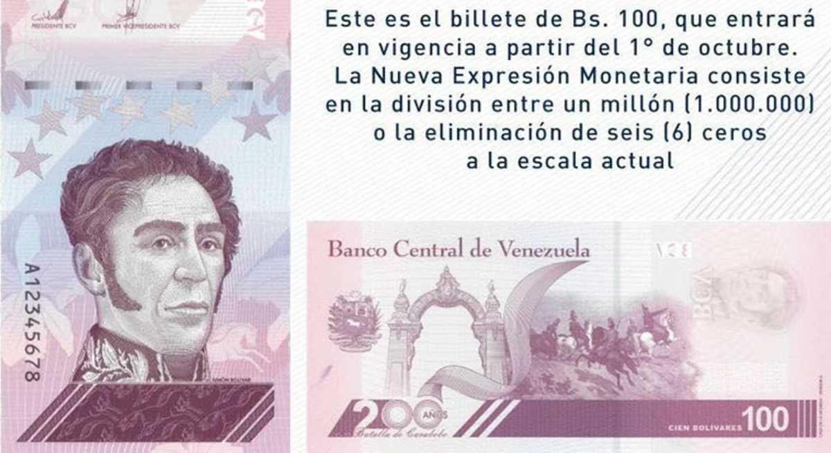 Venezuela elimina 6 ceros al bolívar y lanza moneda digital